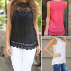 CHIC New Women's Casual Loose Sleeveless Chiffon Vest Tank T Shirt Blouse Tops