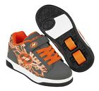 Heelys X2 Dual Up Kids Skate Shoes - Charcoal / Orange / Electricity + Free DVD