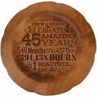 45th Wedding Anniversary Decorative 12 inch Round Plate for Special Couple