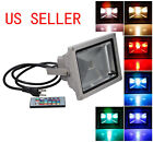 Waterproof 10W RGB Color Changing  LED Floodlight Outdoor Landscape Lamp +Remote
