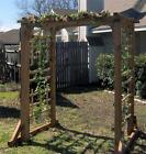 NEW ALL CEDAR WOOD GARDEN ARBOR PERGOLA ARCH VERY LARGE OVER 6 FEET WIDE
