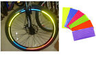 Cycling Fluorescent MTB Bike Bicycle Wheel Rim Stickers Reflective Decal Tape HQ