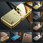 Luxury Shiny Aluminum Metal Bumper Mirror Hard Back Case Cover For Mobile Phones