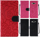 For Samsung Galaxy On5 ROSE Leather Wallet Case Pouch Flip Phone Cover Accessory