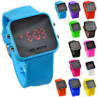 Luxury LED Mirror Digital Casual Sports Silicone Watch for Men and Women J8