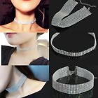 Women Full Diamond Crystal Rhinestone Choker Necklace Wedding Fashion Jewellery