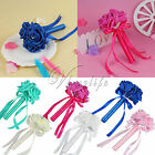 1/5Pcs Mini Wedding Bouquet Rose Flowers for Flower Girl Bride Wedding Decor