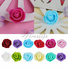 3cm PE Foam Mini Rose Flowers Heads For Wedding Party DIY Hair Band Wreath Decor