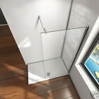 Aica 700x1950mm Wet Room Shower Screen Enclosure 8mm NANO Glass Telescopic Bar