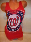 "7115-2 WOMENS Majestic WASHINGTON NATIONALS ""Tank Top"" Baseball Jersey Shirt RED on Ebay"
