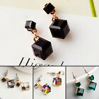 Fashion Women Ladies Korean Cubic Crystal Earrings Ear Stud Earrings 3 Colors
