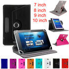 "Universal Leather Flip Stand Case Cover For 7"" 8"" 9"" 10"" inch Android Tablet PC"