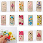 Clear Dried Flower Leaf Hot Rubber Case With Dustproof Cap Cover For Cell Phones