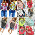 Fashion Womens Summer Casual Long Sleeve Tops Shirt Ladies Loose T-shirt Blouse