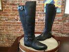 Marc Fisher Grey Leather & Suede Damsel Wide Calf Riding Boots NEW