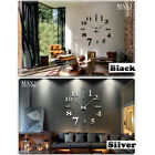 New Style Design DIY Large Wall Clock 3D Mirror Surface Sticker Home Decor Art