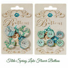 Tilda Spring Lake fabric cover Flower buttons pack of 6 (17mm) pack of 4 (25mm)