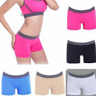 Colored Seamless Stretch Shorts Solid Spandex Workout Basic Plain Tight Yoga Gym