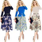 Womens Elegant Vintage Slim Tunic Casual Wear To Work A-line Skater Dress 4180