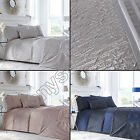 LUXURY LAVELLE BLUE MINK SILVER GREY QUILTED BEDSPREAD BED THROW OVER COVER