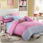 Pink Doona/Quilt Cover Set  Queen King Double Size Hearts Duvet Covers Set New