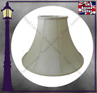 "CREAM BELL SHAPED STANDARD LAMP SHADE - FULLY LINED - 6"" 10"" 12"" 14"" 16"" 18"" 22"""