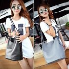 Fashion Women Soft Shoulder Bag Solid Bucket Bag Messenger Tote Bag DZ88