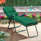Alfresia Garden Sun Lounger Green Adjustable Frame with Classic Cushion