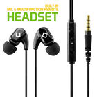 Cellet 3.5mm Stereo Sport Headset Headphones With Built-in Microphone Mic Black