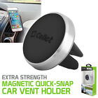 Cellet Extra Strength Magnetic Quick-Snap Car Air Vent Phone Holder Grip Silver