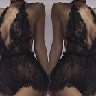 Sexy Women's Plus Size Lace Babydoll Underwear Lingerie Dress Sleepwear Sanwood