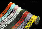 Flower Hollow Lace Diary Stationery Plastic Decorative Sticker Adhesive Tape hot
