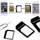4in1 Replace SIM Card Adapter Coverter Nano & Micro Sim Card + Eject tool