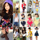 Toddler Kids Baby Girls T-shirt Tops/Pants/Shorts/Dress Summer Clothes Outfits