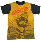Forbidden Planet  Sci-Fi Action Movie Distressed Robot Adult Black Back T-Shirt