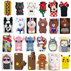 OEM 3D Cartoon Cute Animals Soft Silicone Case Cover Skin For Various iPhone