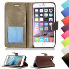 Quality Leather Book Wallet Flip Case Cover For Apple iPhone + Screen Protector