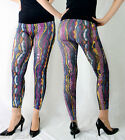 Ultra Soft and Silky Womens SEAMLESS Slim Fit Multi-Color Striped Print Leggings