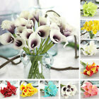 Real Touch PU Calla lily Wedding Bridal Bouquet Flowers Home Party Flower Decor