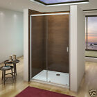 Aica Sliding Shower Door Enclosure and Tray & Waste Safety Glass Easy Intall