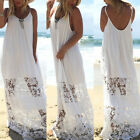 Hot Summer Stylish Womans Lace Off-Shoulder Strapless Beach Long Party Dress