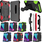 Samsung Galaxy J3 Emerge SuperCoil COMBO Holster HYBRID KICKSTAND Rubber Case
