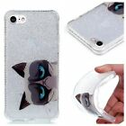Cartoon Cat spark twinkle high impact Slim Soft TPU Gel Cover Case For phone