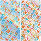 Alphabet letters fabric pink or blue  per 1/2 metre/fat quarter 100 % cotton