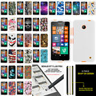 For Nokia Lumia 635 Slim Fitted Hard Snap On Case w/ Unique Designs + Stylus Pen