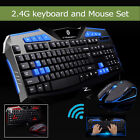 Slim Wireless 2.4G Gaming keyboard and Mouse Set to computer Multimedia Gamer