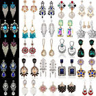 Elegant Women's Crystal Rhinestone Ear Stud Dangle Earrings Charming Jewelry CH