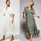 2017 Women Empire Waist Backless Tunic Boho Hippie Holiday Beach Maxi Gown Dress