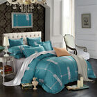 Long-Staple Cotton Duvet Doona Quilt Covers Set Queen King Size Flat Sheet Set