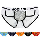 Sexy Underwear Mens Briefs Shorts Bulge Pouch Soft Y-Front Triangle Underpants